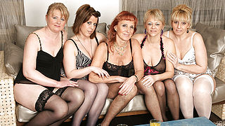 Welcome to a hot old and young lesbian party