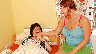 Mature Delora loves to play with young Alyssa
