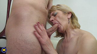 Granny and mom take young big cocks