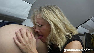 Horny 50 years old cougar rimming young boy039;s anus