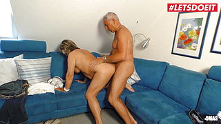 LETSDOEIT - He Easily Seduces Old Deutsche Grandma