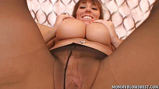 Busty Milf Alia Janine Tit Fucks A Load Out Cock