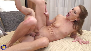 Dirty mature moms and happy young sons