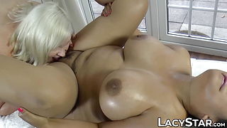 Promiscuous granny licks tasty pussy and moans quietly