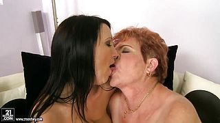 Chanel and Lady Bella lick and play with strap on