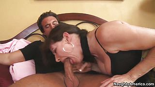 Alexandra Silk sucking and riding Rocco Reeds cock