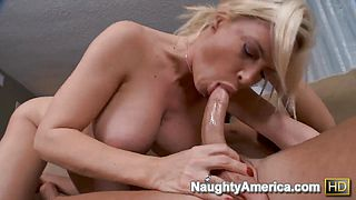 Busty Diamond Foxxx seduces young stud Seth Gamble