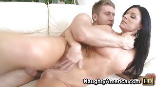 Danny Wylde feels the tightness of India Summers cleft