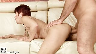 Mature lady is pleasing her man feat Linda B
