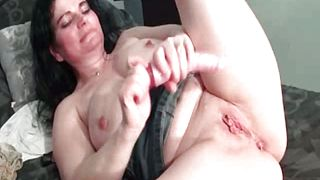 Crazy busty brunette woman drills her part4