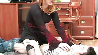 MILF from adultcamsbiz sucking stepson