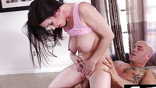 Hot MILF fucks her personal trainer
