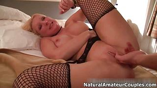 Sexy blonde wife with big tits gets anal part4