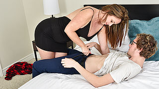 Sexy Milf sucks her toyboys dick before fucking him