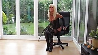 Milf in pvc coat and leather la 1fuckdatecom