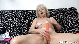 Striping Masturbating Granny