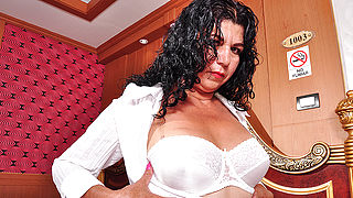 Hot Latin housewife playing with herself